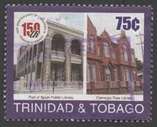 Trinidad & Tobago Scott #624, 75¢ Multicolored (2001) Port Of Spain Public Library, Used