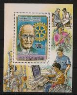 Mauritanie - 1984 - PA N°Yv. 217 En Bloc Spécial - Paul Harris / Rotary - Neuf Luxe ** / MNH / Postfrisch - Rotary, Lions Club