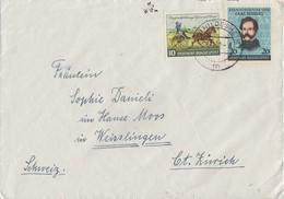 Bund Brief Mif Minr.155,160 Hildesheim 28.11.52 Gel. In Schweiz - BRD