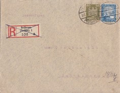 DR Postauftrag Mif Minr.360,354 Heilbronn 20.5.26 - Briefe U. Dokumente