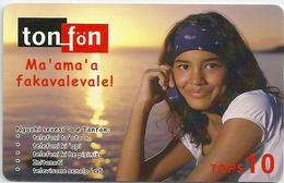 Tonga - TonFon - Ma' Ama' A Fakavalevale - Girl In Sunset - Remote 10$, Used