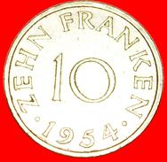 § FRANCE: SAAR ★ 10 FRANCS 1954! LOW START★ NO RESERVE! - Sarre