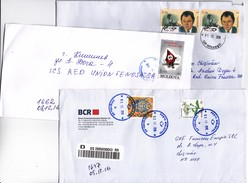 Moldova , Moldavie , Flowers , Cinema , E.Loteanu , Coat Of Arms ,  3 Used Covers - Moldova