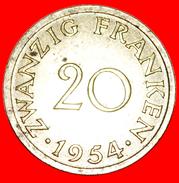 § FRANCE: SAAR ★ 20 FRANCS 1954! LOW START★ NO RESERVE! - Saarland