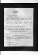 De Monin-Rendeux Née Vermeulen °1825 +1905 Bruxelles Trieux Courrière Le Mesre De Pas De Mianoye Waasmunster Lokeren - Décès