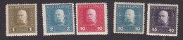 Austria, Scott #M22-M23, M27-M28, M36, Mint Hinged, Franz Josef, Issued 1915 - Austria