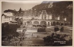 Petropolis Brazil, Hotel Quitandinha, Shuffleboard Or Tennis Courts(?) C1930s/40s Vintage Photograph Like Postcard - Places