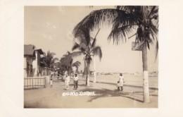 Salinas Ecuador, Beach Promenade, People Walking On Waterfront C1940s Vintage Real Photo Postcard - Ecuador
