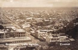 Guayaquil Ecuador, Aerial Panoramic View Of City C1940s Vintage Real Photo Postcard - Ecuador