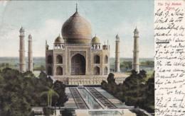Agra India The Taj Mahal, C1900s Vintage Postcard - India
