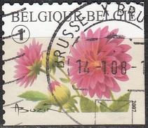 Belgique 2007 COB 3721C O Cote (2016) 2.20 Euro Dahlia Cachet Rond - Gebraucht