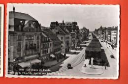 PRR-0C La Chaux-de-Fonds Hotel De La Fleur De Lys Rue Léopold Robert. Tampon Prudence Sur Route Prévient Les Accidents - NE Neuchâtel