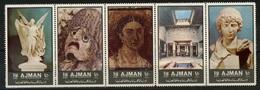572  AJMAN STRIP POMPEI ART   BF SHEET  NEUF ** - Ajman