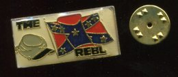 Pin´s - THE REBL Drapeau Confédéré - Guerre De Secession - Pin's