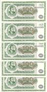 RUSSIE 100 MMM  UNC ( 5 Billets ) - Russie