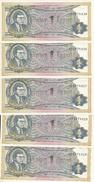 RUSSIE 1 MMM PRIVATE UNC ( 5 Billets ) - Russia