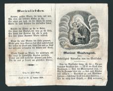 INCISIONE - B.V. MARIA CON GESU' BAMBINO - Mm. 80 X 128 - EPOCA - APRIBILE - Religión & Esoterismo