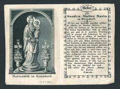 INCISIONE - B.V. MARIA CON GESU' BAMBINO - Mm. 83 X 123 - EPOCA - APRIBILE - Religione & Esoterismo