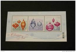 Canada Christmas 2411 Sourvenir Sheet Block Christmas Ornaments MNH 2010 A04s - Blocs-feuillets