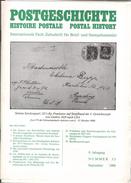 REVUE POSTGESCHICHTE  N° 35 De Septembre 1988 - Revistas