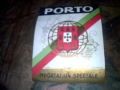 Vieux Papier Collection Etiquette  Porto Importation Speciale Imprimerie Wetterwald - Autres