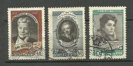 RUSSIA Russie Soviet Union 1958/59 Berühmte Frauen 3 Marken O - 1923-1991 URSS