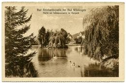 ALLEMAGNE : BAD WILDUNGEN - BAD REINHARDSQUELLE - PARTIE AM SCHWANENTEICH IM KURPARK - Bad Wildungen