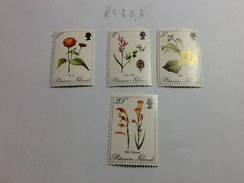 83303) Pitcairn-1970-fiori Diversi -n. 109-112- Nuovi** - Pitcairn