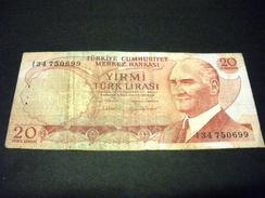 TURQUIE 20 Lirasi / Livres 1974, 1971-1982, Loi De 1970 , Pick N°187 , TURKEY - Turkije