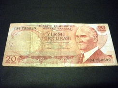 TURQUIE 20 Lirasi / Livres 1974, 1971-1982, Loi De 1970 , Pick N°187 , TURKEY - Turquie