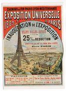 Publicité Par L'affiche Chemins De Fer-Inauguration De L' EXPOSITION UNIVERSELLE  Paris 1889-(Tour Eiffel)cpm