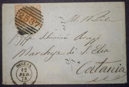 ANNULLI NUMERALI SICILIA: NUMERALE RAGUSA Siracusa - 1861-78 Victor Emmanuel II