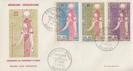 Enveloppe  FDC  1er  Jour   REPUBLIQUE  CENTRAFRICAINE   Sauvegarde  Des  Monuments  De   Nubie   1964 - Egyptologie