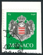 MONACO 2005 - Yv. 2502 Obl. TB (autoadhésif Sur Son Fragment De Carnet Intact) - Armoiries  ..Réf.MON20416 - Monaco