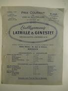33 Bordeaux établissements Latrille Ginestet 1923 Négociant Vin Viticulture Margaux Saint-Emilion Haut-Brion Médoc - Landwirtschaft