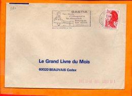 CORSE, Bastia, Flamme SOTEM N° 5780, Son Musée D'ethnographie, Dateur Inversé - Marcophilie (Lettres)