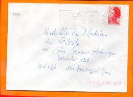 CORSE, Ile Rousse, Flamme SOTEM N° 5463, Station Climatique, Dateur Inversé - Postmark Collection (Covers)