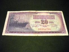 YOUGOSLAVIE 20 Dinara 1978, Pick N° 85  , YUGOSLAVIA - Yougoslavie