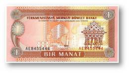TURKMENISTAN - 1 MANAT - ND ( 1993 ) - Pick 1 - UNC. - Serie AE - 2 Scans - Turkmenistan