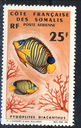 Costa Dei Somali Posta Aerea 1966 N. 50 F. 25 MNH Cat. € 5.50 - Unused Stamps