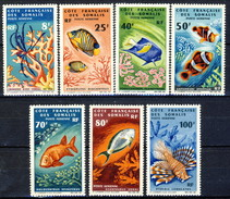 Costa Dei Somali Posta Aerea 1966 Serie N. 49-55 MNH Cat. € 90 - Unused Stamps