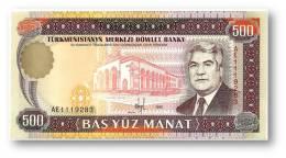 TURKMENISTAN - 500 MANAT - 1995 - Pick 7.b - UNC. - Serie AE - 2 Scans - Turkmenistan