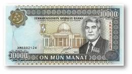 TURKMENISTAN - 10,000 MANAT - 2000 - Pick 14 - UNC. - Serie AM - 2 Scans - 10000 - Turkmenistan