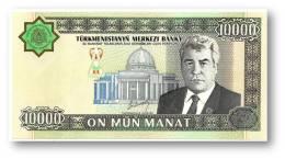 TURKMENISTAN - 10,000 MANAT - 2003 - Pick 15 - UNC. - Serie BF - 2 Scans - 10000 - Turkmenistan