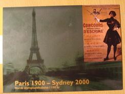 Norway Pws 2000 Paris 1900 Sydney Olympics Norway Olympic Museum Ski Skiing Entier Ganzsache Postal Stationery Card