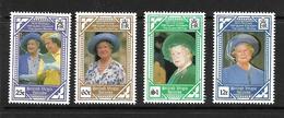 ILES VIERGES 1990 ELIZABETH   YVERT N°654/57  NEUF MNH** - Royalties, Royals
