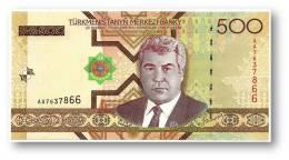TURKMENISTAN - 500 MANAT - 2005 - Pick 19 - UNC. - Serie AA - 2 Scans - Turkménistan