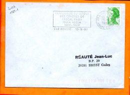 CORSE, Ile Rousse, Flamme à Texte, Centenaire Du Retour Des Cendres De PAscal Paoli Isula Rossa 1889-1989 - Marcophilie (Lettres)