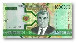 TURKMENISTAN - 1000 MANAT - 2005 - Pick 20 - UNC. - Serie AA - 2 Scans - 1.000 - Turkmenistan
