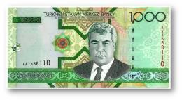 TURKMENISTAN - 1000 MANAT - 2005 - Pick 20 - UNC. - Serie AA - 2 Scans - 1.000 - Turkménistan